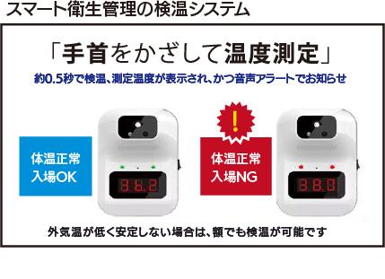 スマート衛生管理の検温システム